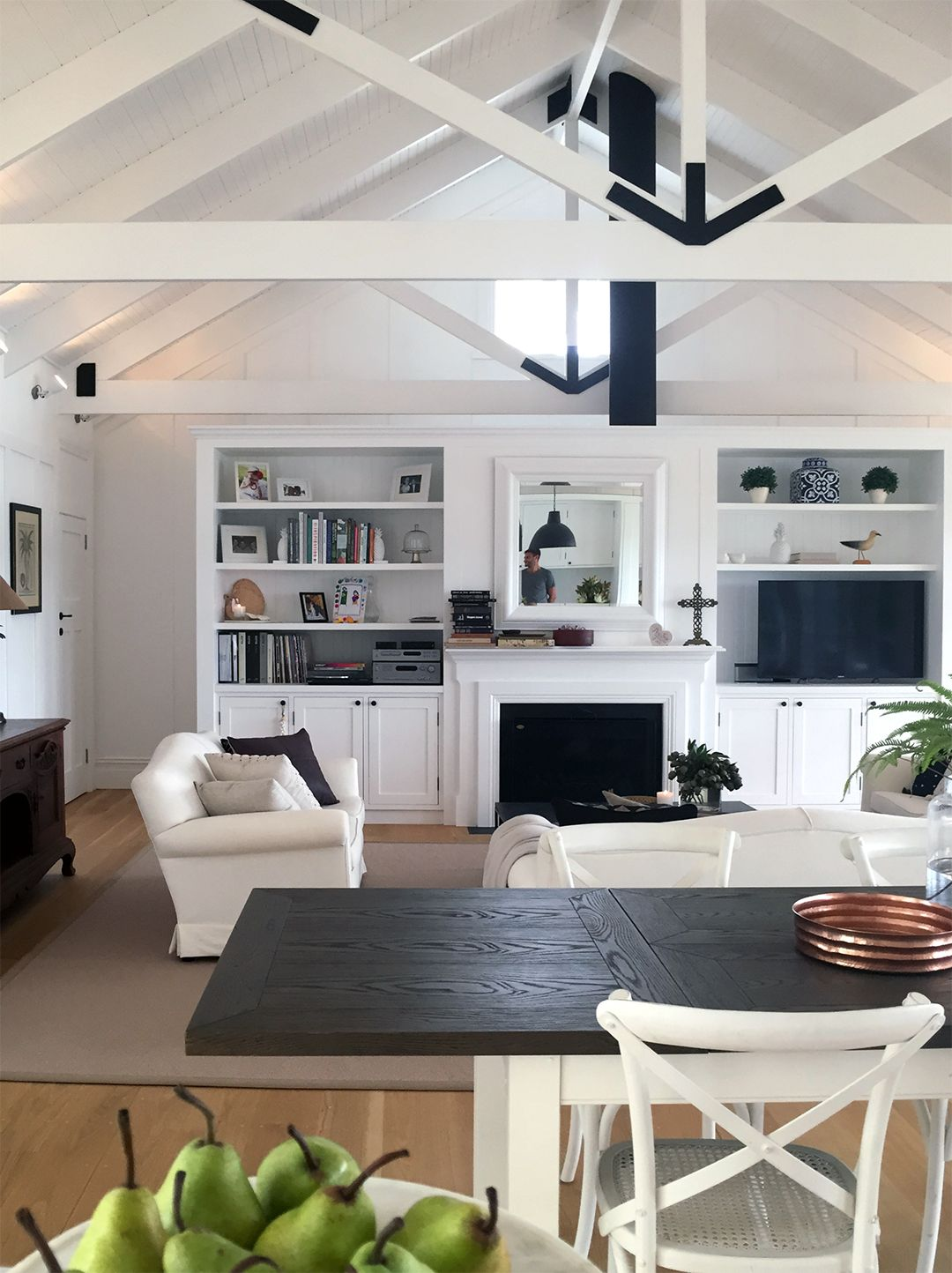 Image Result For Hamptons Open Plan Living Built In