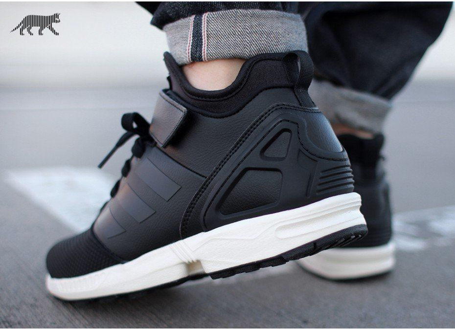 cad303ae251fe adidas ZX FLUX NPS MID (Core Black / Core Black / Chalk White) in ...