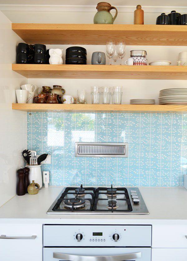 Glass Splashback Duck Egg Blue Glass Splashback Kitchen Design Splashback Duck egg blue kitchen wallpaper