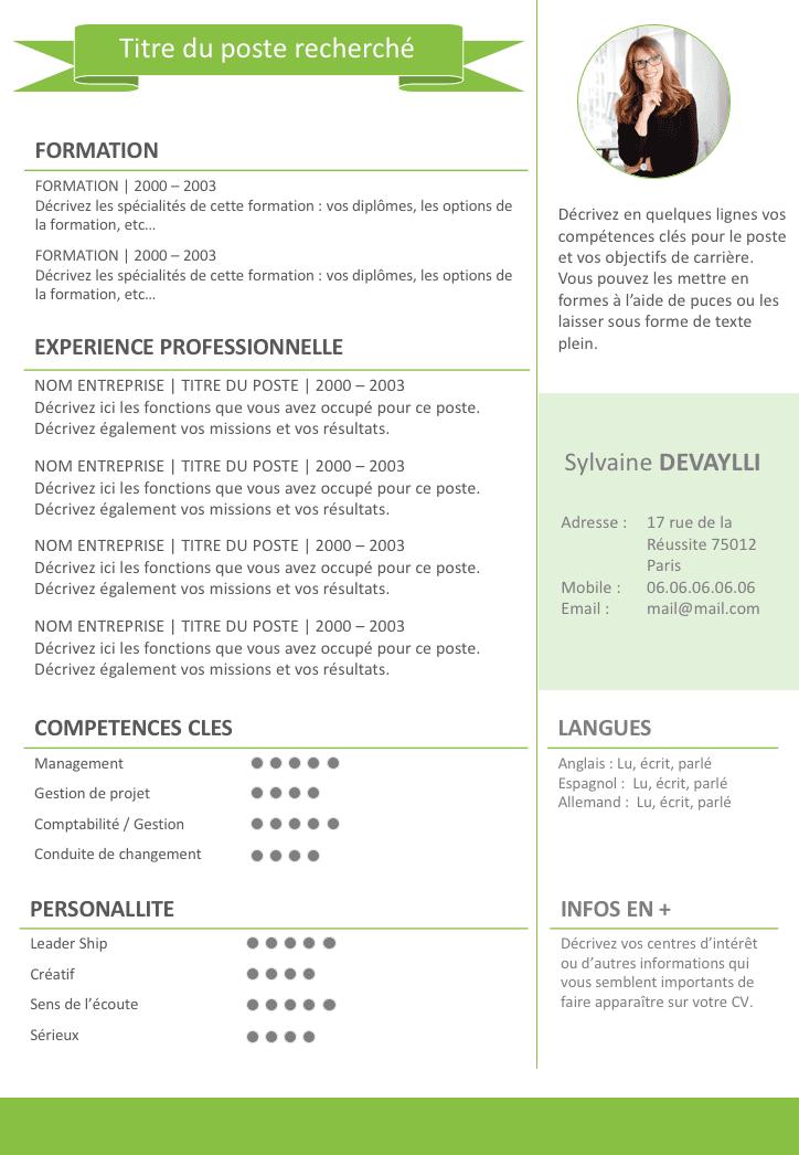 Exemple de CV Split gratuit à télécharger Exemple cv