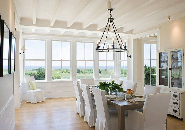 Casual Coastal Beach House Dining Room