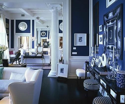 color pattern, white, blue, interior, decor,