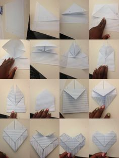 Just Made ThisIt Was Easy  Cute Way To Fold A Love Note