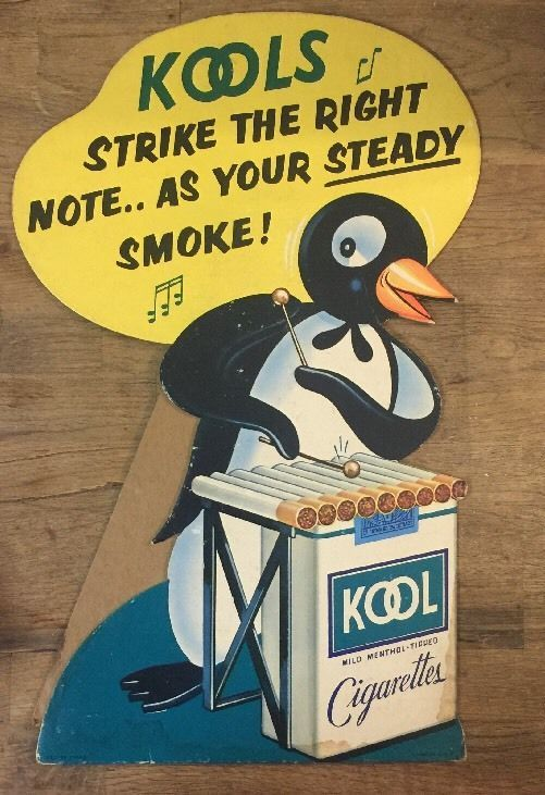 Image result for kool cigarettes penguin mascot