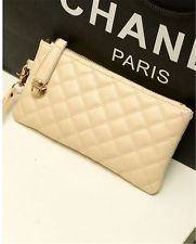 New lady Women Soft Leather Clutch Wallet Long PU Card Purse Handbag *Beige