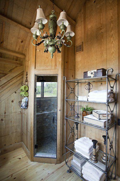 Ländliche Badezimmer Design Ideen Rustikal Holz Einrichtung