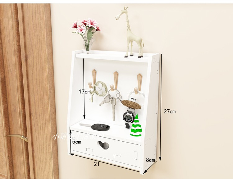 Simple And Modern Wall Shelves Hook Free Drilling Living Room Decorative Wall Hanging Key Storage Box Fini Modern Wall Shelf Hanging Wall Decor Key Storage Box