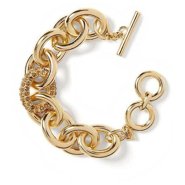 Banana Republic Pave Link Bracelet Size One Gold 33 Liked On