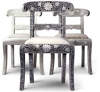 Delicieux Bone Inlay Chair|Bone Inlaid Chair|Bone Inlay Ramu0027s Hed Chair|MOP Inlay  Chair From India|