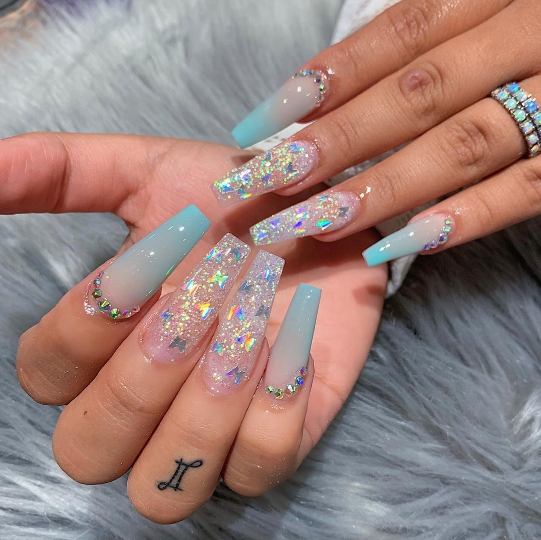 20 TRENDY SPRING ACRYLIC COFFIN NAILS STYLES FOR GIRLS