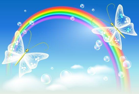 heart rainbow picture | Free EPS file Cartoon Rainbow ...