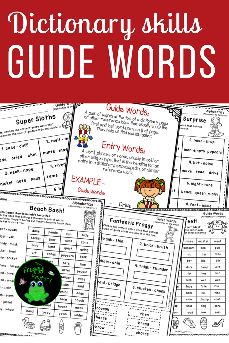 Are Your Students Struggling With Guide Words These Guide Words Worksheets Will Give Them Extra Guide Word Prac Guide Words Dictionary Skills Teaching Writing [ 1102 x 735 Pixel ]