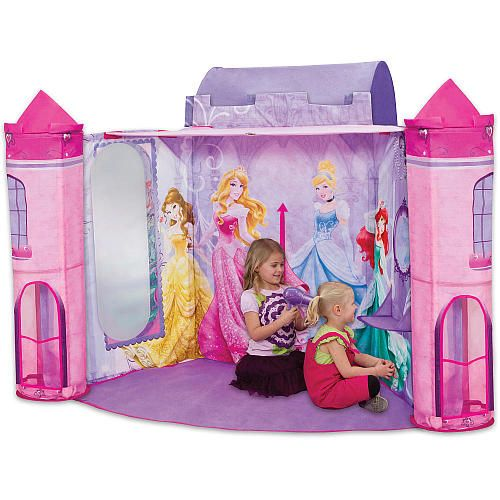 The Playhut Disney Princess Salon tent features a roomy dressing room with a front entrance and tunnel port for easy access and crawl-through fun.  sc 1 st  Pinterest & Play Hut - Disney Princess Salon - Play Tent - PlayHut - Toys