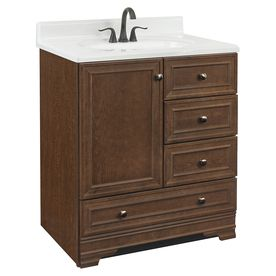 Gallery For Website LOWE us Project Source Bark Traditional Bathroom Vanity Common in
