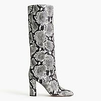 cbe1487bdac Tall high-heel boots in faux snakeskin   Women boots
