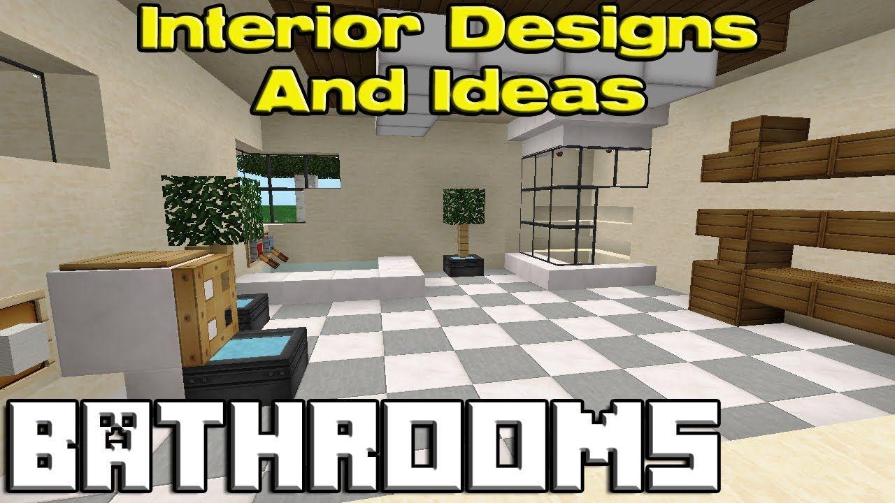 Minecraft Bathroom Designs | Minecraft building | Minecraft ...