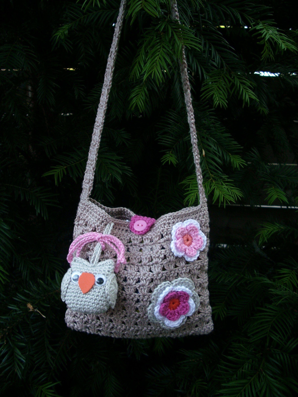 Tasjes Gehaakt Voor Mijn Kleindochters Bags Girls Pinterest