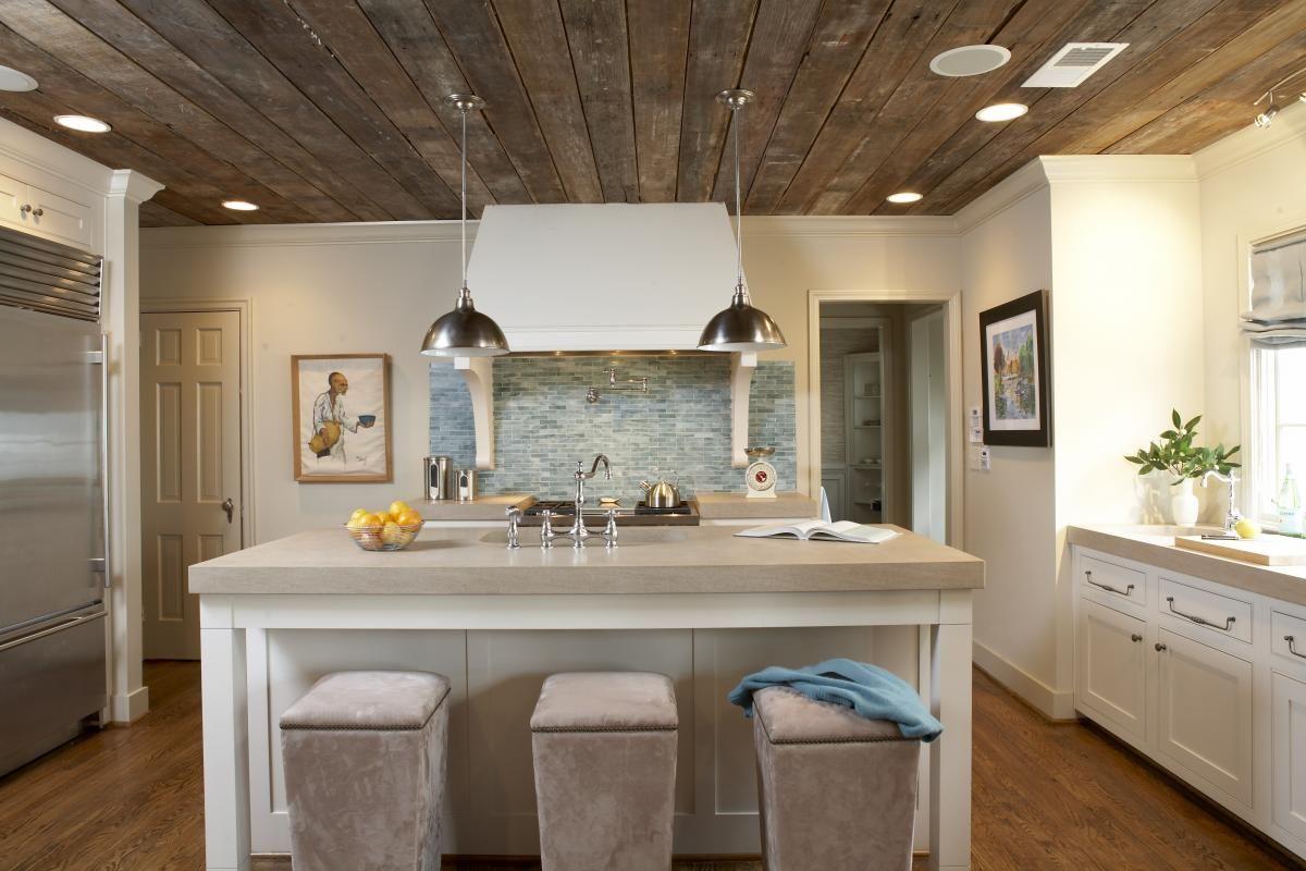 barn board ceiling modern bungalow bungalow kitchen studio kitchen on kitchen id=13849