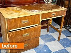 Before & After: A Damaged Desk Gets a Dramatic Change