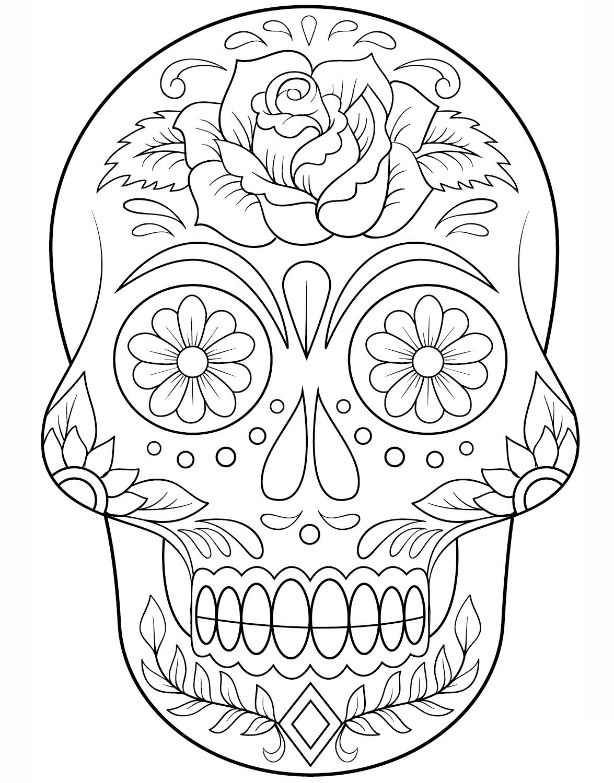Mascara Descargable Imprime Colorea Corta Y Haz Tu Mask Para Haloween Calaveras Para Colorear Mandalas De Calaveras Calaveras Mexicanas Para Colorear