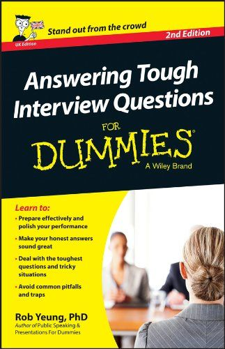 Answering Tough Interview Questions For Dummies 2nd Edition Pdf - resumes for dummies