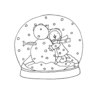 Free Dearie Dolls Digi Stamps Snowglobe Bluebirdie Digi Stamps Christmas Embroidery Coloring Pages