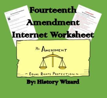 Students Will Gain A Basic Understanding Of The Fourteenth Amendment Through An Easy T Elementary Worksheets Social Studies Lesson Plans This Or That Questions