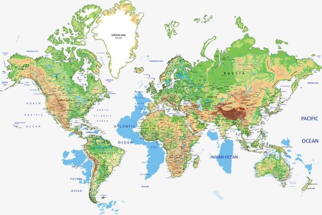 Vector World Geography Map, World Map, Vector Map, Global ...