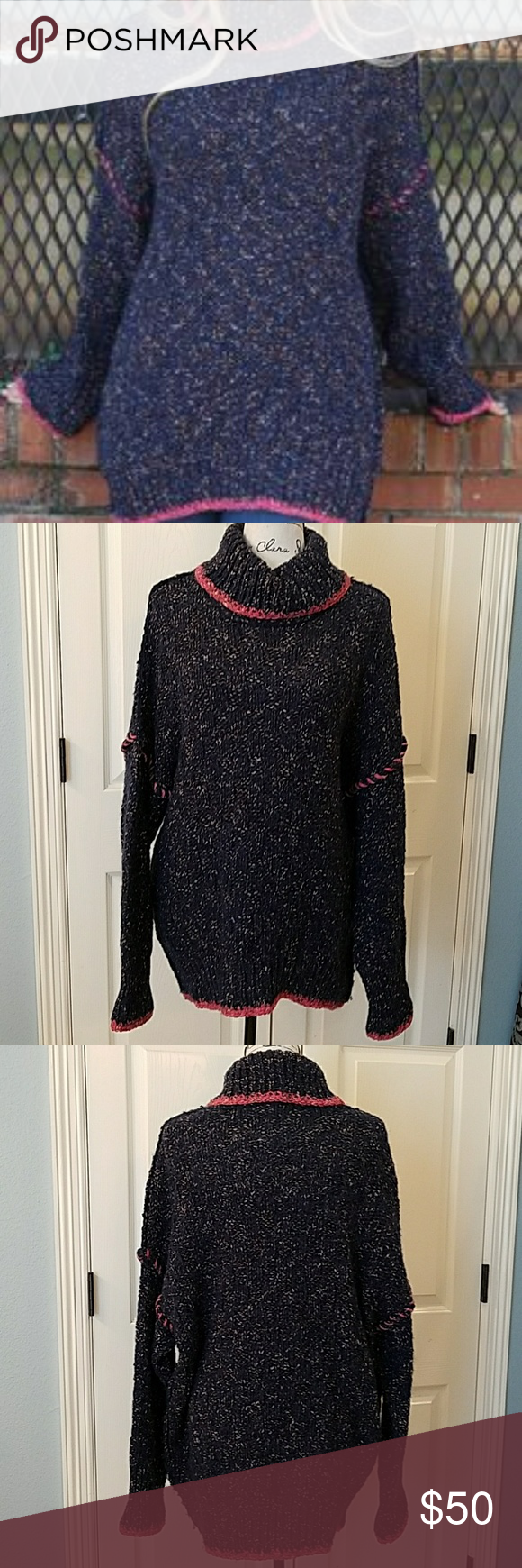 Free People Ziggy Tunic Sweater EUC | Mock turtle, Tunic sweater ...