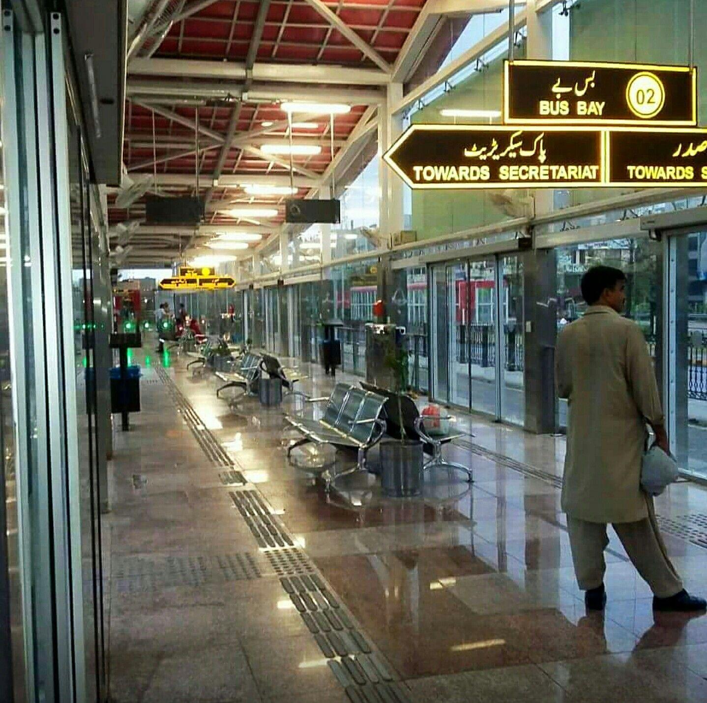 Metro Bus Islamabad: Islamabad Metro Bus, Inside View Of Faizabad Bus Station