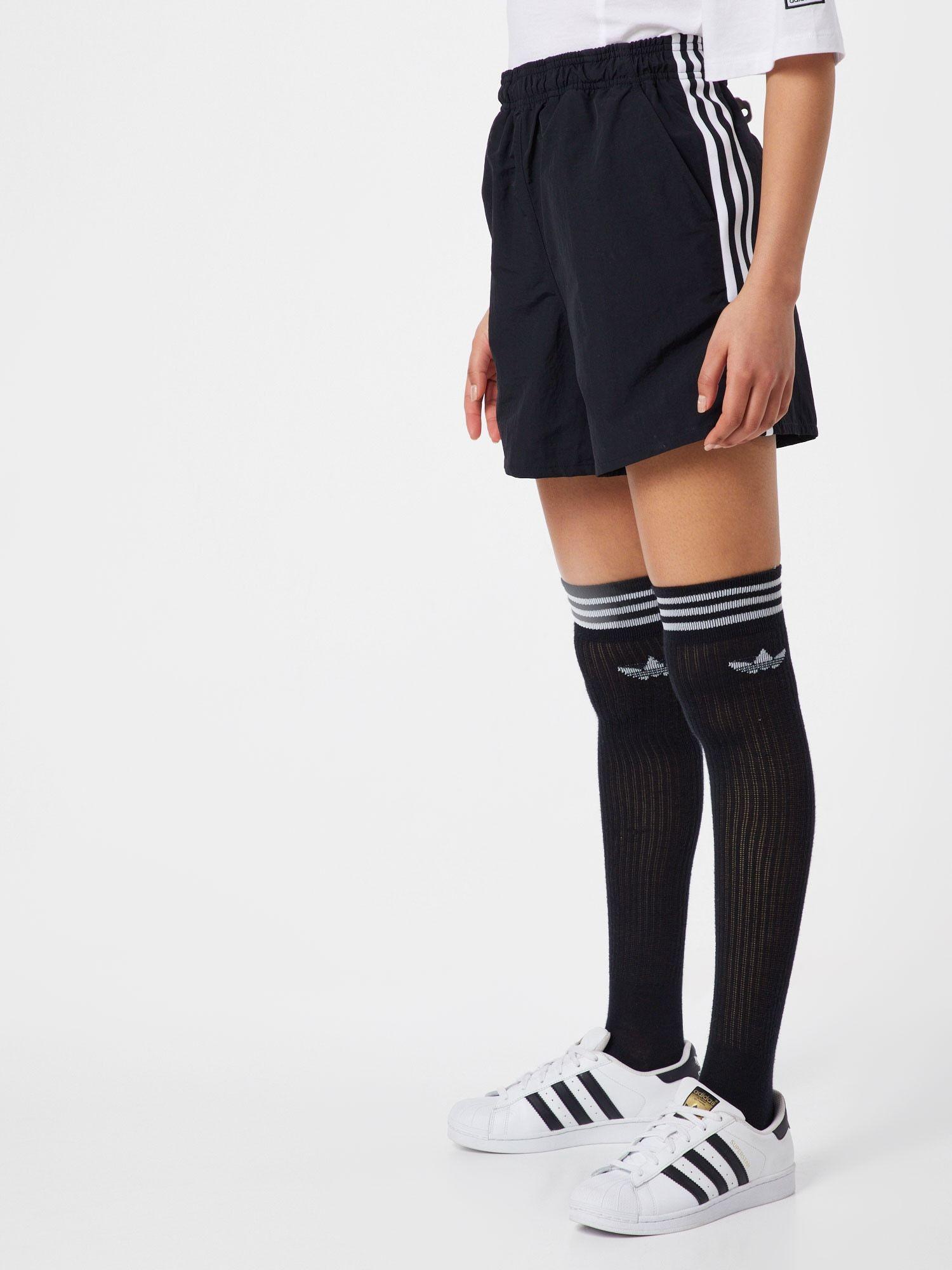 ADIDAS ORIGINALS Shorts Damen, Schwarz Weiß, Größe 32 in