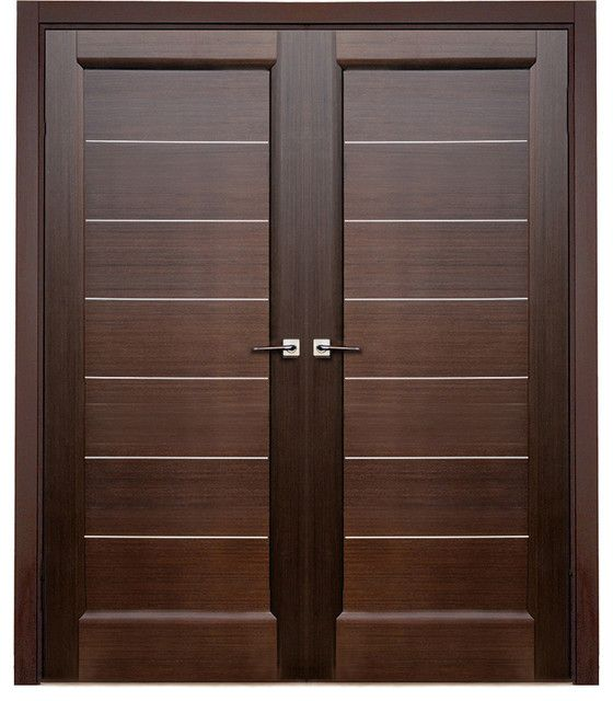 Modern door latest wooden main double door designs for Simple wooden front door designs