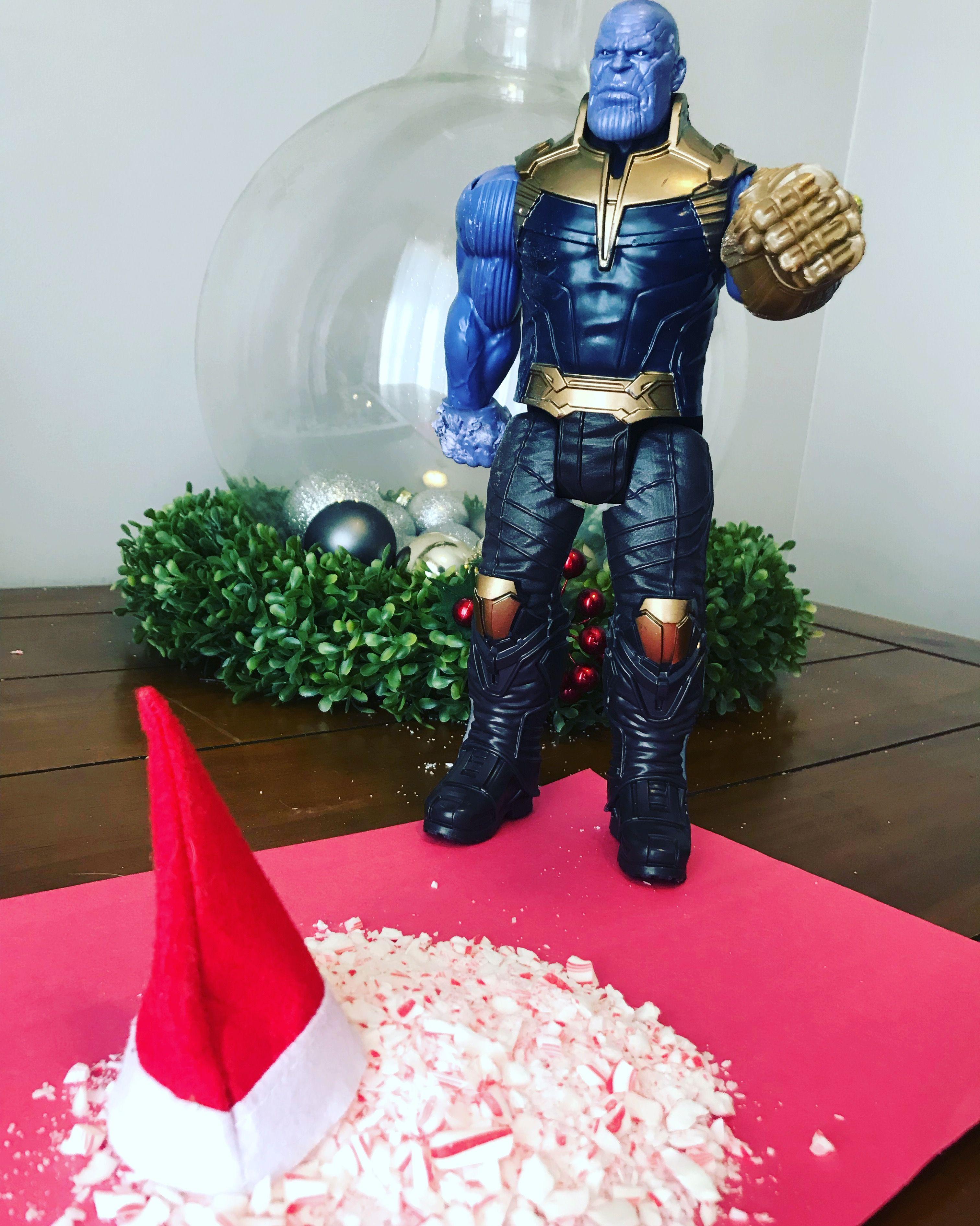 Elf on the shelf funny Marvel Thanos Elf on the shelf