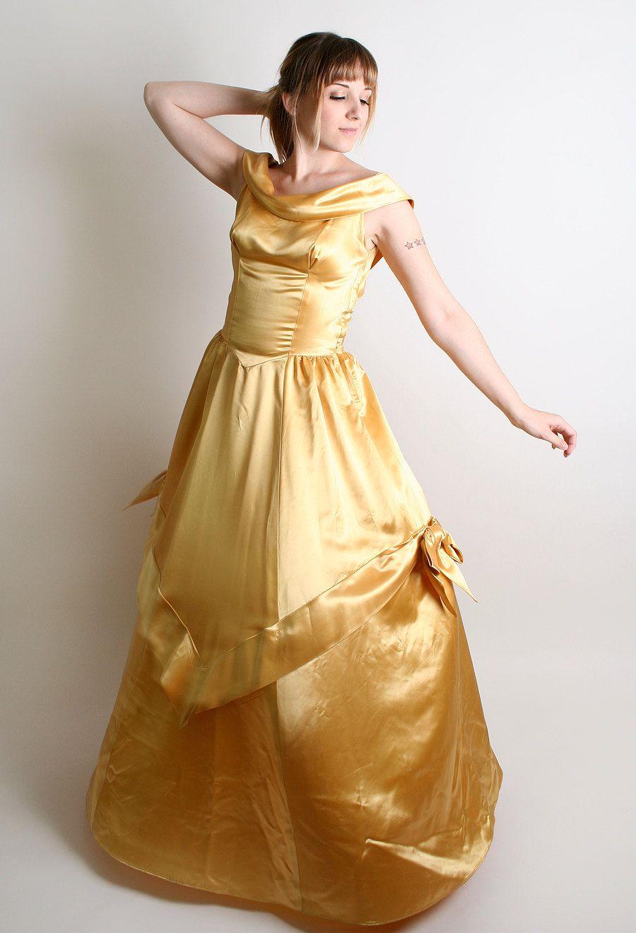 S prom dress vintage marigold golden princess by zwzzy