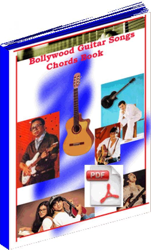 Bollywood Hindi Song Guitar Chords and Tabs Book with Video Lessons ...