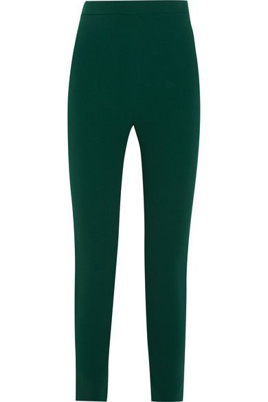 Stretch-crepe Skinny Pants - Emerald Brandon Maxwell Footlocker For Sale giWbg68S