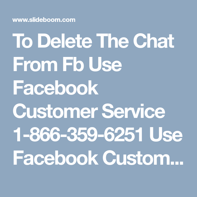 facebook customer service chat