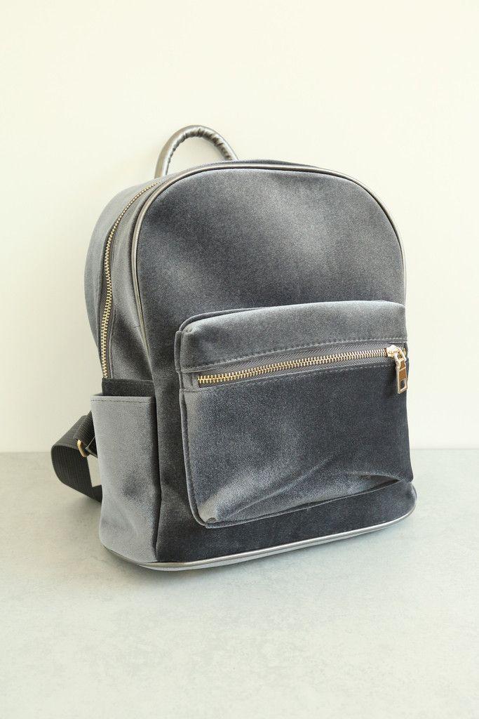 Velvet Backpack - Grey