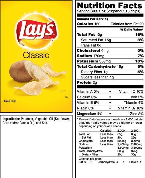 Lay S Classic Potato Chips Makanan Makanan Dan Minuman Minuman