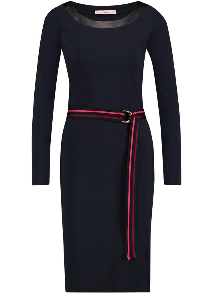 ff33fff98b3bbe Studio Anneloes porter dress 02524 Dames kleding Jurken donker blauw €  129