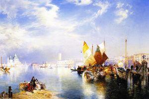 Venise Fishmarket - (Thomas Moran)