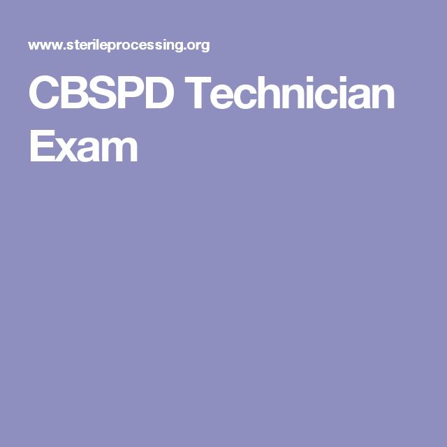 Cbspd Technician Exam Cbspd Tech
