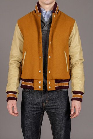 S. Slater by Golden Bear Insleeve With Snap Front Varsity Jacket