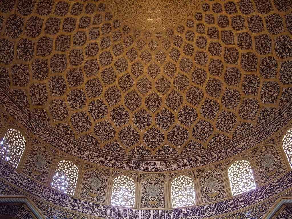 Dome of Sheikh Lotfullah mosque in Isfahan, Iran.