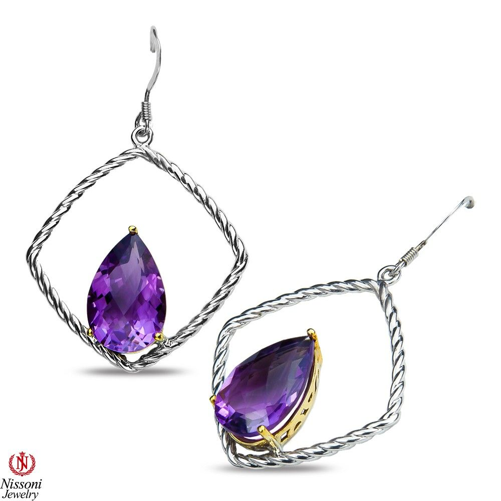 Etsy NissoniJewelry presents - Ladies Silver Earrings with Amethyst    Model Number:E7618-SILAMP    https://www.etsy.com/ru/listing/289124075/ladies-silver-earrings-with-amethyst