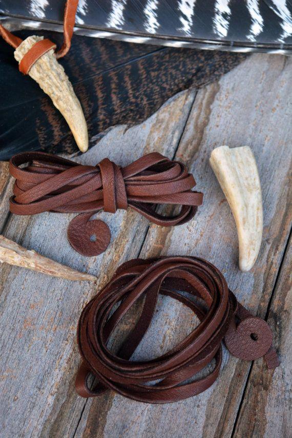 6mm Fudge Brown Deer Suede Leather, Deerskin, 6.5 feet (2 meters), 1 long strap, Deer hide, Buckskin, Soft Deer Suede, Supply