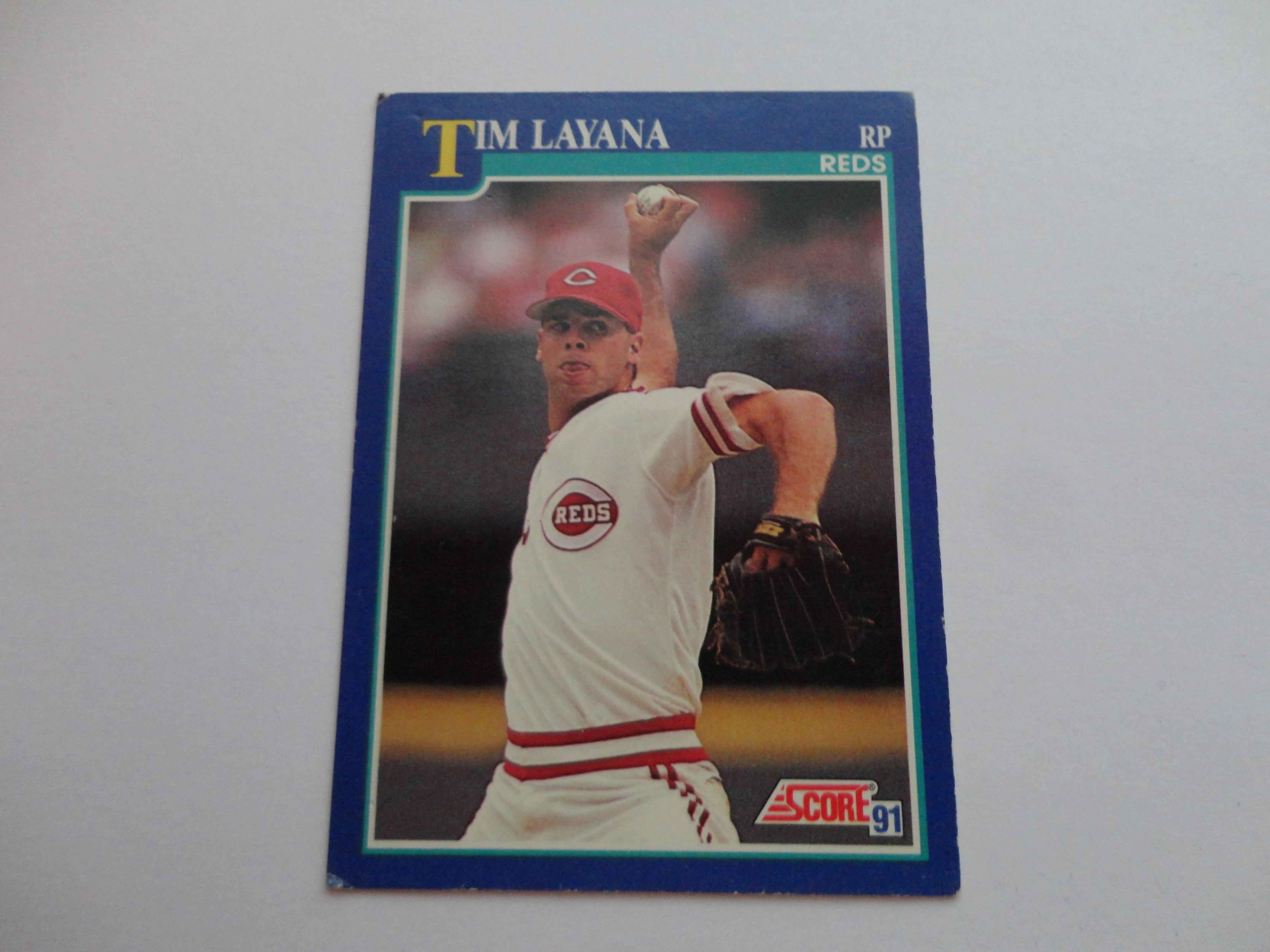 Tim Layana 1991 Score Baseball Card Baseball Cards Baseball