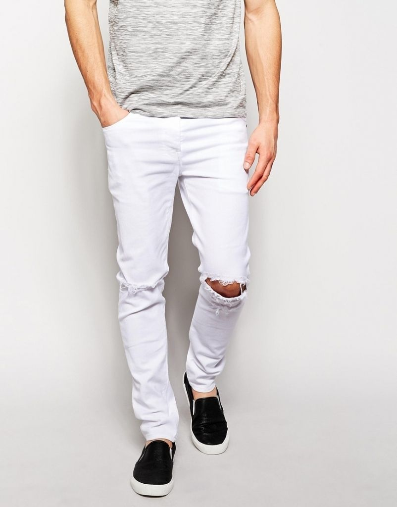 8631cb8b04c Best Inspiration White Ripped Jeans For Men