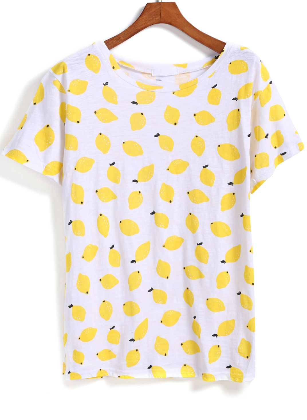 b8b5ba894be Shop Yellow Short Sleeve Lemon Print T-Shirt online. SheIn offers Yellow Short  Sleeve Lemon Print T-Shirt   more to fit your fashionable needs.