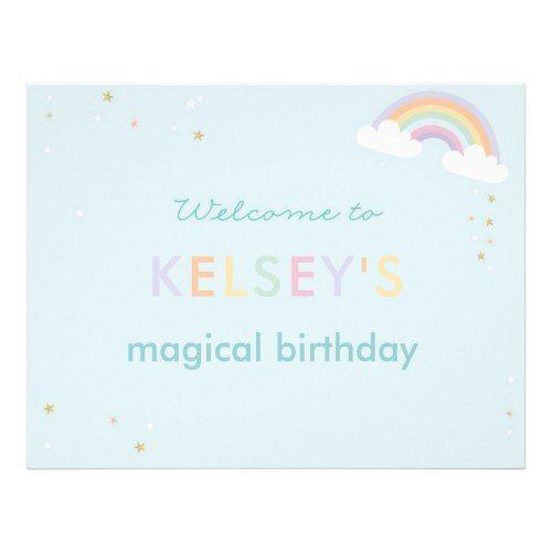 Magical Unicorn Birthday Welcome Sign Pinterest Unicorn birthday